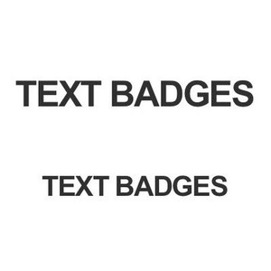 Text Only Badges
