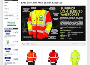 Search and Rescue, Lowland SAR and Mountain Rescue Teams MRT Clothing Provision