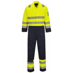 Portwest MV28 Hi Vis Yellow/Navy MODAFLAME Coverall