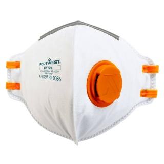 Portwest P153 FFP1 Valved Dolomite Fold Flat Respirator x 20