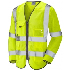Leo Workwear S20Y Hi Vis Class 3 Coolvis Long Sleeve Waistcoat Yellow
