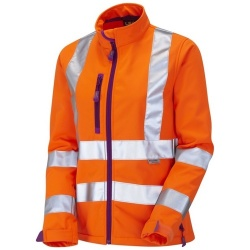 Leo Workwear SJL01-O Hi Vis HONEYWELL Ladies Softshell Jacket Orange