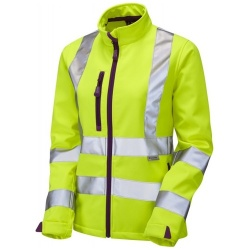 Leo Workwear SJL01-Y Hi Vis HONEYWELL Ladies Softshell Jacket Yellows