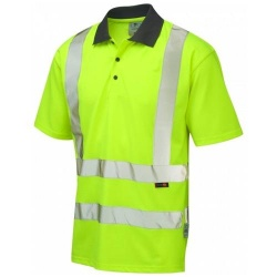 Leo Workwear P02-Y Rockham Hi Vis Polo Shirt Yellow Coolviz