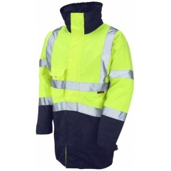 Leo Workwear A03-Y/NV Hi Vis Superior Jacket Two Tone Yellow / Navy