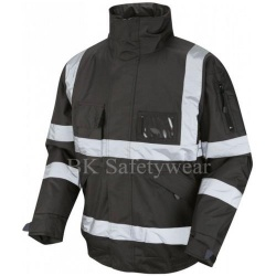 Hi Vis Superior Bomber Jacket Black