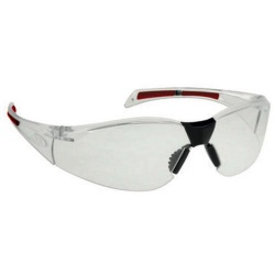 JSP Stealth 8000 Clear Wrapround Safety Glasses