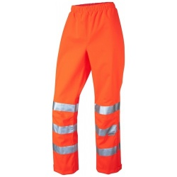 Leo Workwear LL02-O HANNAFORD ISO 20471 Class 2 Breathable Ladies Overtrouser Orange