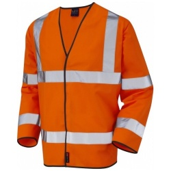Leo Workwear S01-O Shirwelll Hi Vis Class 3 Sleeved Waistcoat Orange