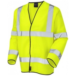 Leo Workwear S01-Y Shirwell Hi Vis Class 3 Sleeved Waistcoat Yellow