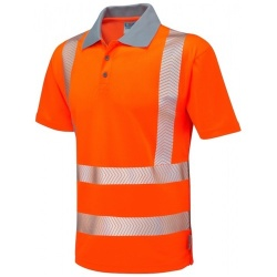 Leo Workwear P03-O Hi Vis Coolviz Plus Polo Shirt Orange