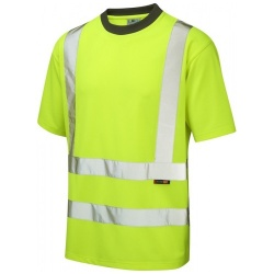 Leo Workwear T02-Y Hi Vis Coolviz T-Shirt Yellow