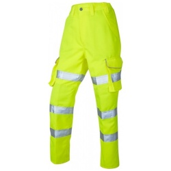 Leo Workwear CL01-Y PENNYMOOR ISO 20471 Class 2 Ladies Poly/Cotton Ladies Cargo Trouser Yellow