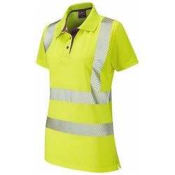 Leo Workwear PL03-Y PIPPACOTT ISO 20471 Class 2 Coolviz Plus Ladies Polo Shirt Yellow