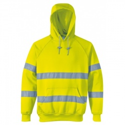 Portwest B304 Hi Vis Hooded Sweatshirt Yellow