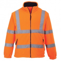 Portwest F300 Hi Vis Mesh Lined Fleece GO/RT Orange