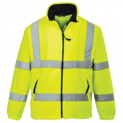 Portwest F300 Hi Vis Mesh Lined Fleece Yellow