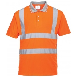Portwest Railway RT22 Hi Vis Short Sleeved Polo Shirt GORT Orange