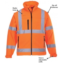 Portwest S428 Hi Vis Softshell Jacket GO/RT Orange