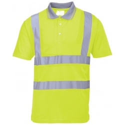 Portwest S477 Hi Vis Short Sleeved Polo Shirt Yellow