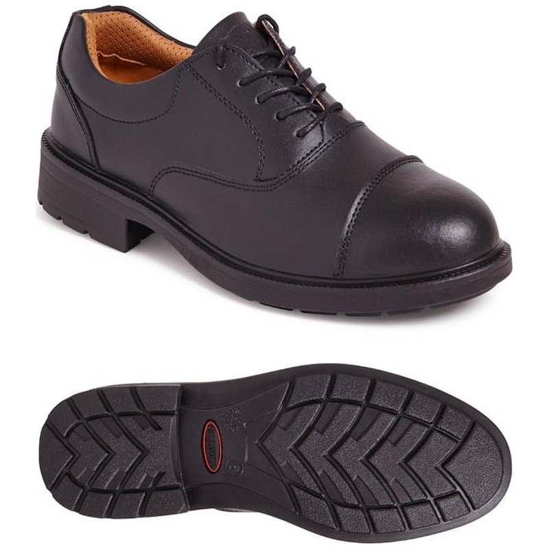 3377867b7e9 City Knights SS501CM Oxford Safety Shoes Black
