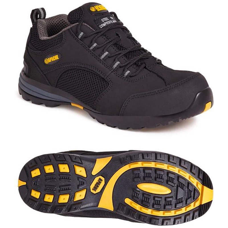 Apache AP318SM Black Safety Trainer