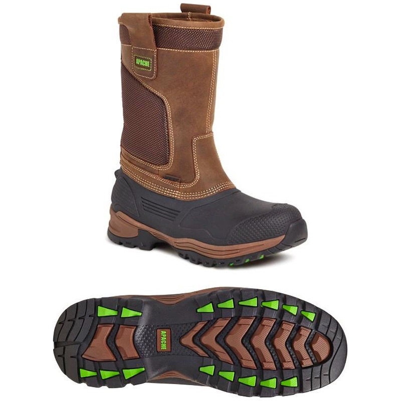 57baeffcd3b Apache Traction Waterproof TPU Shell Rigger Boot Brown | BK Safetywear