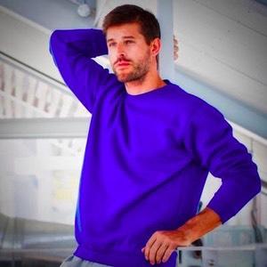 Dickies Jansen Printed Sweatshirt Jumper Blue Men/'s Work Sizes S-XXL