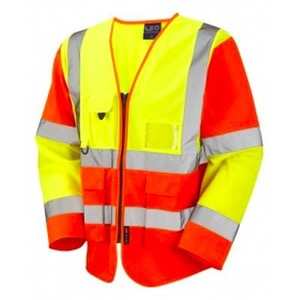 Hi Vis Long Sleeve Superior Executive Vests with Pockets