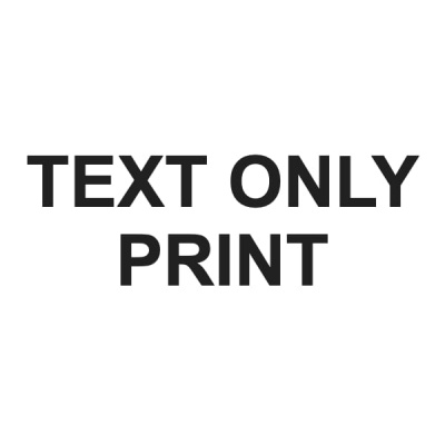 Printed Text Only