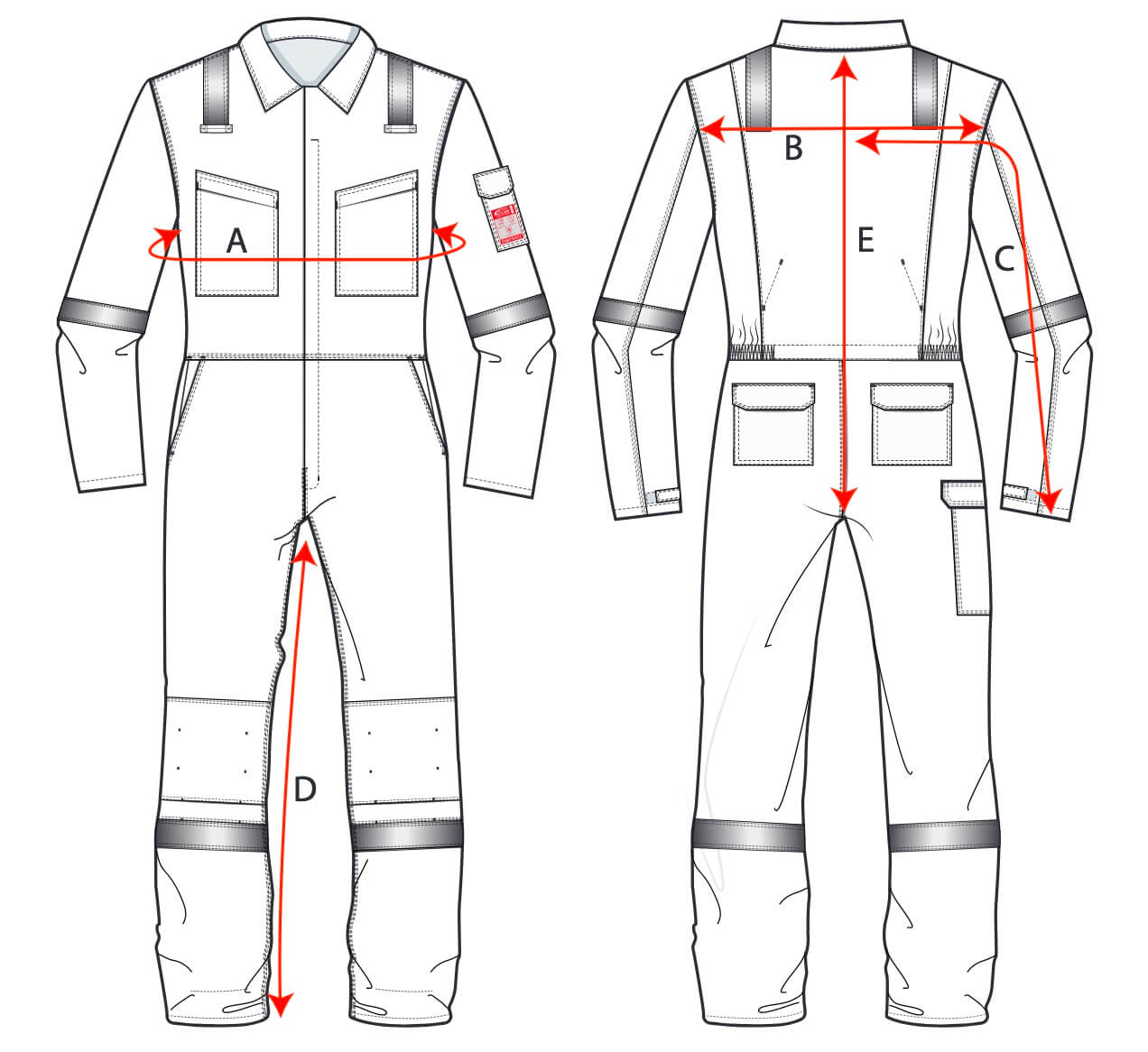 Portwest Womens Coveralls Size Guide