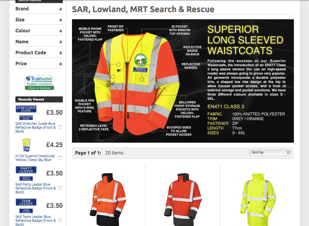 Search and Rescue Clothing