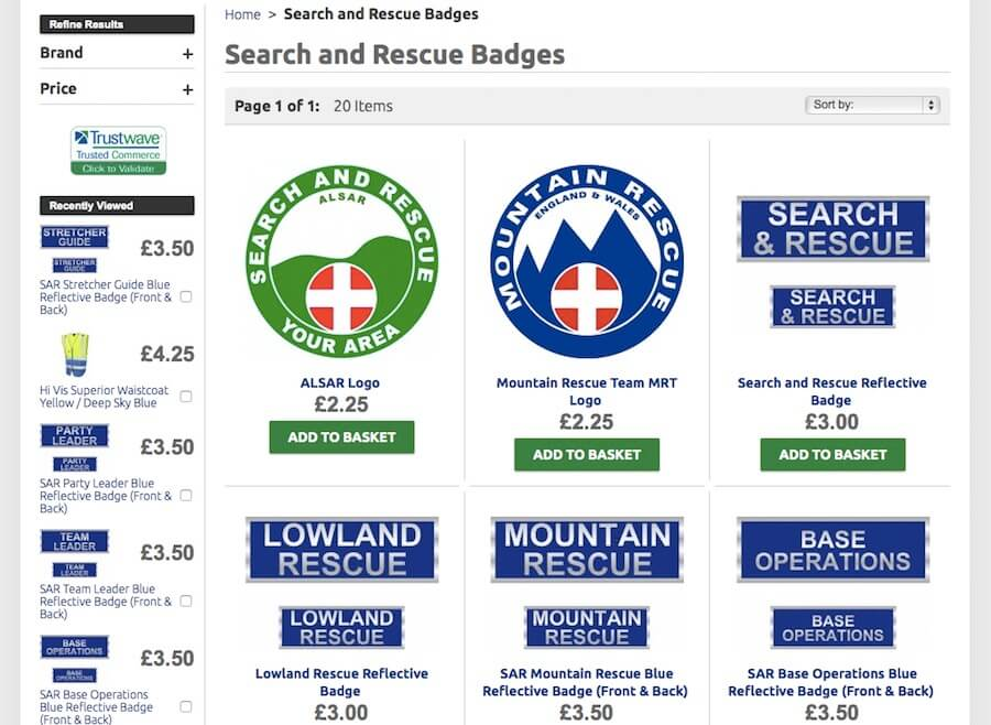 Search and Rescue Reflective Badges
