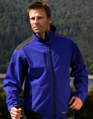 Result Work-Guard R124X Ripstop Soft Shell Workwear Jacket with Cordura