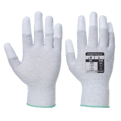 Portwest A198 Antistatic PU Fingertip Glove