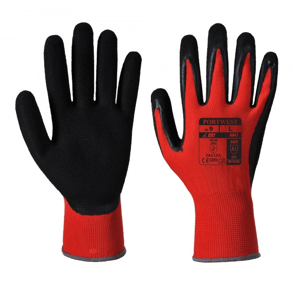 Portwest A641 Red Cut 1 Gloves - PU