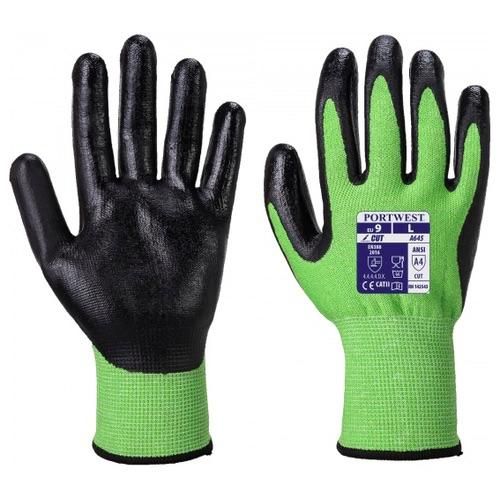 Portwest A645 Green Cut 5 - Nitrile Foam