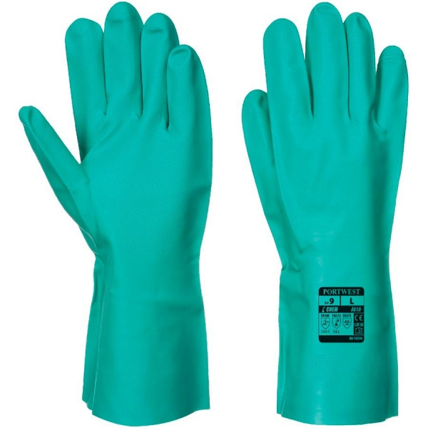 Portwest A810 Nitrosafe Chemical Gauntlet - Nitrile