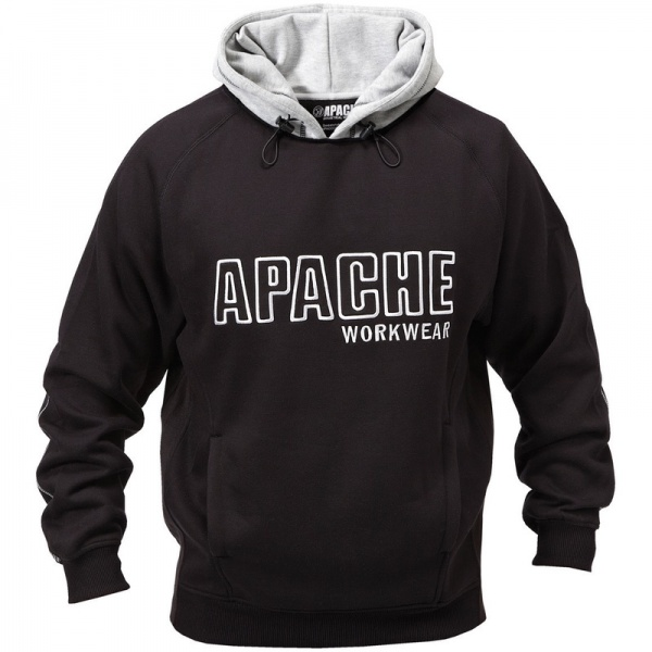 Apache Workwear Hooded Sweatshirt Black/Grey