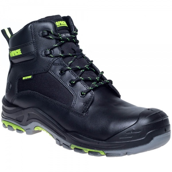 Apache ATS Dakota PU Rubber Waterproof Non Metallic Boot Black