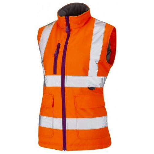 Leo Workwear BWL01-O Sandymere Ladies Hi Vis Bodywarmer Orange