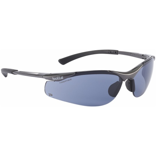 Bolle Safety CONTOUR CONTPSF Safety Spectacles Platinum Smoke
