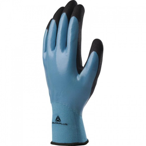 Delta Plus Wet & Dry VV636 Polymide Gloves Fully Coated Waterproof Nitrile Foam Palm EN388:2016