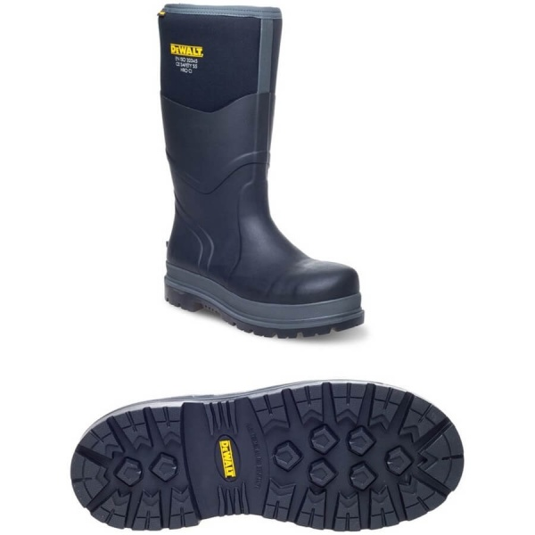 Dewalt Hobart Wellington Boot Black