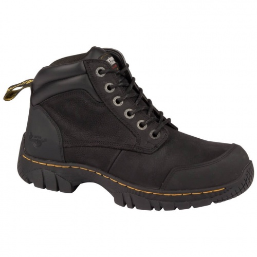 Dr Martens Riverton Black 6 Eye Safety Boots
