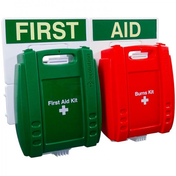 Evolution FAP31 British Standard Compliant Catering Green Case First Aid Point