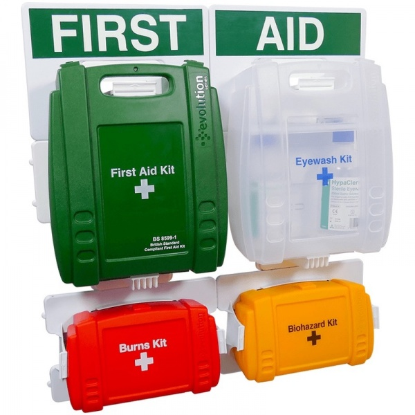 Evolution FAP33 Complete First Aid Point 4 Piece Wall Set