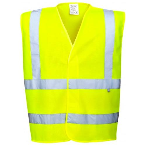 Portwest FR71 Hi Vis Waistcoat Fire Retardant and Antistatic Yellow