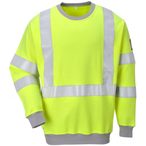 Portwest FR72 Flame Resistant Anti Static Hi Vis Sweatshirt