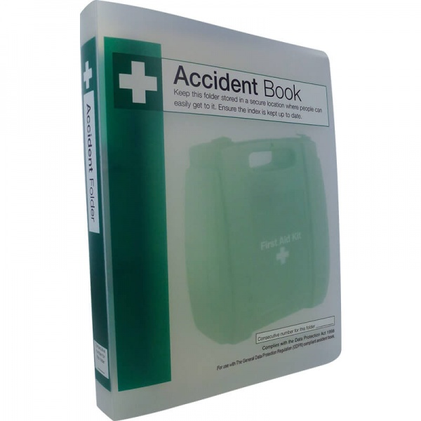 First Aid Q3210 Accident Book Folder